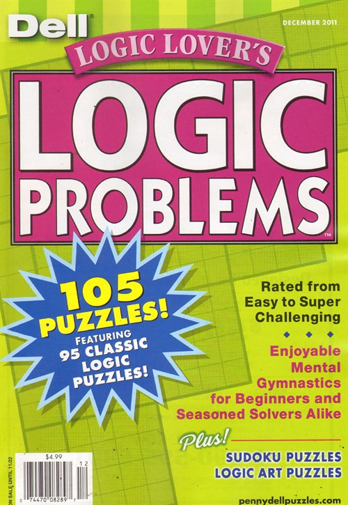 Best Price for Logic Lover's Logic Problems Magazine Subscription